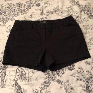 Black shorts size 4
